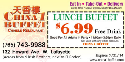 Lunch Buffet $5.99