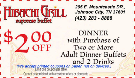picture about Hibachi Grill Supreme Buffet Coupons Printable titled Hibachi Grill greatest buffet