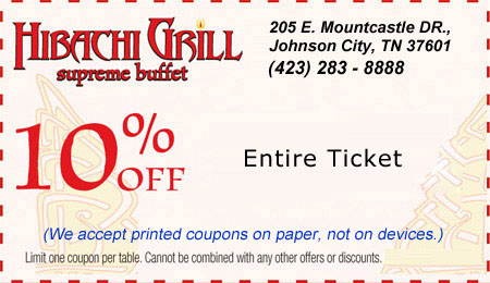 image relating to Hibachi Grill Supreme Buffet Coupons Printable identified as Hibachi Grill best buffet