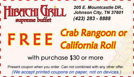 image regarding Hibachi Grill Supreme Buffet Coupons Printable known as Hibachi Grill top buffet